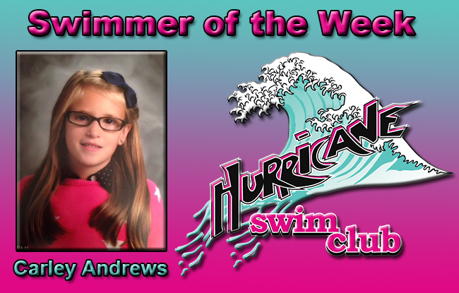 Swimmer of the Week of 10/20 – Carley Andrews