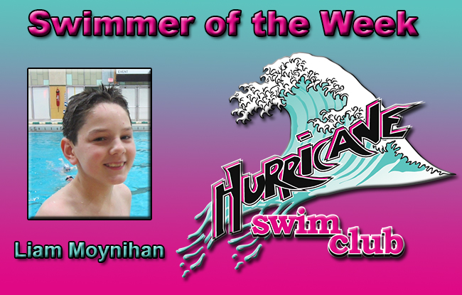Swimmer of the Week for the Week of 11/10 – Liam Moynihan